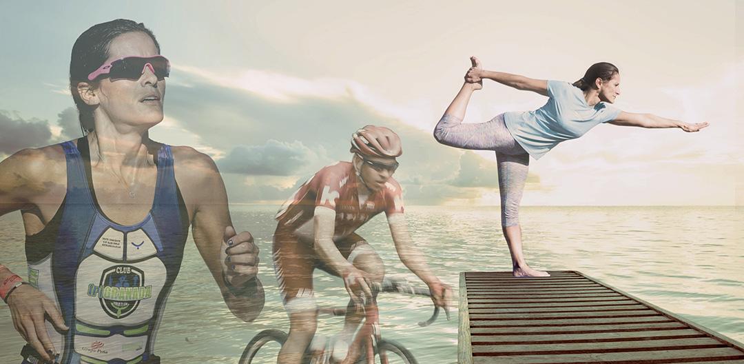 19825884 - caucasian woman practicing yoga at seashore